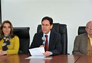 El presidente del ente electoral en conferencia de prensa I Foto: TSE.