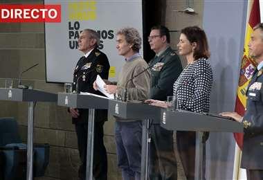 Autoridades españolas en rueda de prensa/Foto: El País