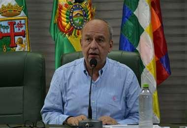 Murillo en conferencia de prensa I Foto: APG Noticias.