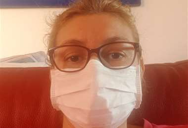 Nancy, una boliviana que hace años vive en Suiza se está recuperando del coronavirus