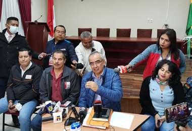 Miembros del COED Tarija dieron a conocer la noticia. Foto: David Maygua