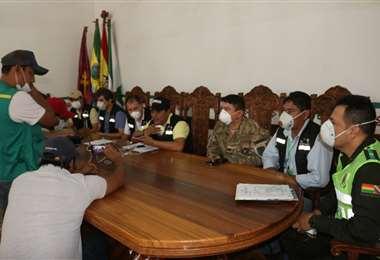 Reunión de coordinación en San Ignacio