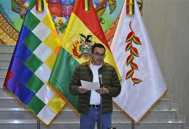 Núñez en conferencia de prensa I Foto: Presidencia.