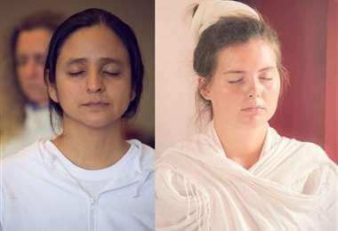 La investigadora y poeta Claudia Vaca y su esposa Veranika Lis meditan con más frecuencia