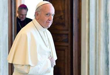 El papa Francisco en su residencia. Foto AFP