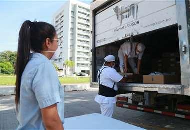 Frigor envía carne a domicilio. Foto: Jorge Uechi
