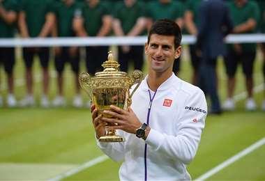 El serbio Novak Djokovic, de 32 años, es el vigente campeón de Wimbledon. Foto: Internet