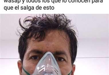 Aguilar está internado en un hospital