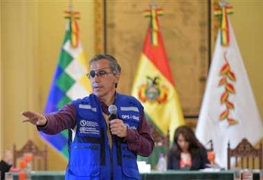 Tenorio abordó varios aspectos de la lucha contra el Covid-19 con los periodistas/ABI
