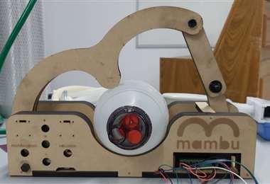 Este es el respirador Mambú creado en Bolivia por un grupo de expertos/Diego Suárez