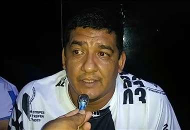 Marcos Rodríguez hizo algunas declaraciones a los medios en la Felcc. Foto: captura de pantalla