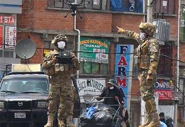 Control militar por cuarentena I Foto: APG Noticias.