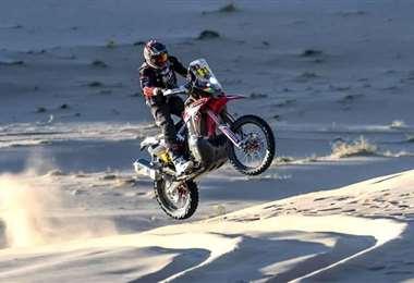 En la edición 2020 el boliviano Daniel Nosiglia abandonó la carrera a causa de un accidente. Foto. Archivo