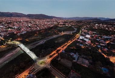 Vista área de la ciudad de Tarija