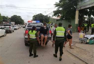Los detenidos fueron llevados hasta la Estación Policial Integral No. 5 /Foto: Jorge Uechi