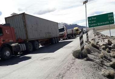 El mayor flujo de carga de exportación e importación se realiza por Tambo Quemado