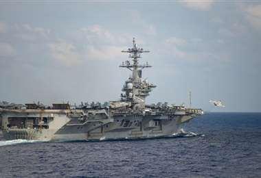 El portaaviones estadounidense se encuentra actualmente en Guam. Foto Internet