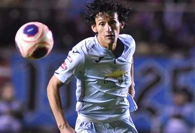 Víctor Ábrego comenzó de titular en Bolívar. El joven delantero es carta de gol. Foto: APG Noticias