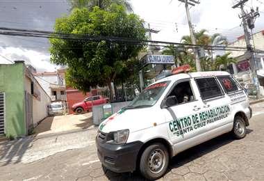 En esta ambulancia fue trasladado Medina