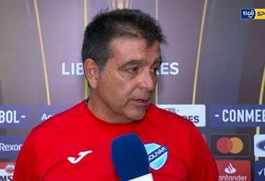 Claudio Vivas, director técnico de Bolívar. Foto. Tigo Sports