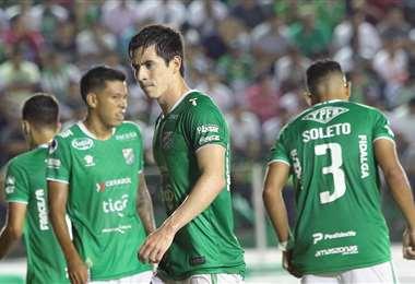 Alan Mercado, Marco Bueno y Wilfredo Soleto están en los planes de 'Vitamina' Sánchez para el duelo ante Real Potosí. Foto. Ricardo Montero