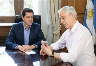 La exautoridad junto al ministro del Interior argentino I Foto: Twitter.