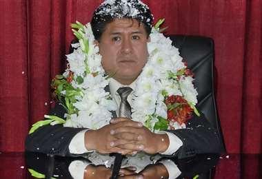 El alcalde Aguilar asumirá sus funciones en la Alcaldía de Oruro.
