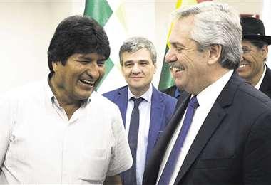 El presidente argentino Alberto Fernández y Evo trabajan juntos para desvirtuar  el fraude