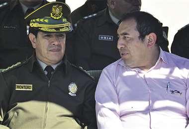 El general Rodolfo Montero fue designado comandante general de la Policía por el Gobierno de Áñez, después de los conflictos de noviembre. Foto: APG Noticias