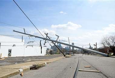 Los tornados destruyeron todo a su paso en Nashville. Foto: AFP