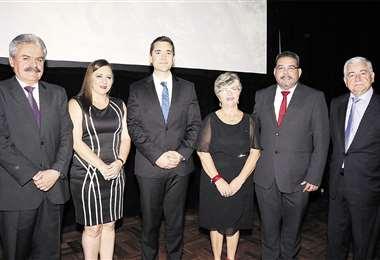 Destacados. Luis Alpire, Eliane Capobianco, Diego Justiniano, María Elva Pinckert, Víctor Hugo Áñez y Wilfredo Rojo