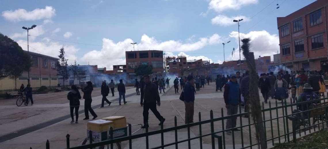 Los disturbios en El Alto I Foto: Marco Chuquimia
