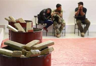 El cargamento pretendía ser traído al país o intercambiado por cocaina