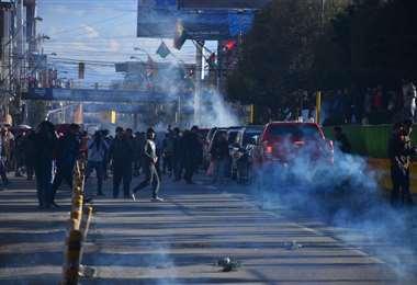 Los incidentes registrados en El Alto I Foto: APG Noticias.