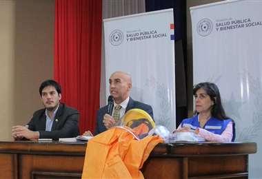 Conferencia de prensa de autoridades paraguayas I Foto: La Nación.