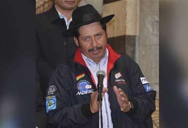 El jueves el gobernador de Chuquisaca señaló que jamás pensó renunciar a su cargo. Foto: ABI