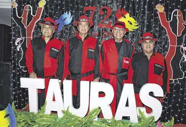 .Directiva Taura. Juan Carlos Balcázar, Herland Camacho, Alfredo Romero y 'Coqui' Anglarill . Foto: Ángel Farell
