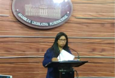 Eva Copa, presidenta del Senado de Bolivia