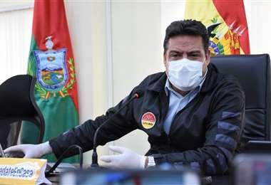 El alcalde paceño en una reunión de coordinación I Foto: GAMLP.