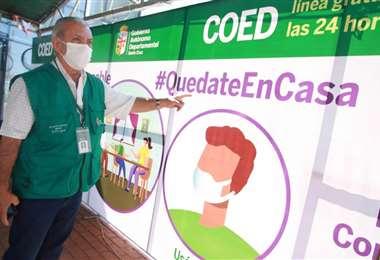 El secretario de Salud de la Gobernación de Santa Cruz, Óscar Urenda | Foto: Ricardo Montero