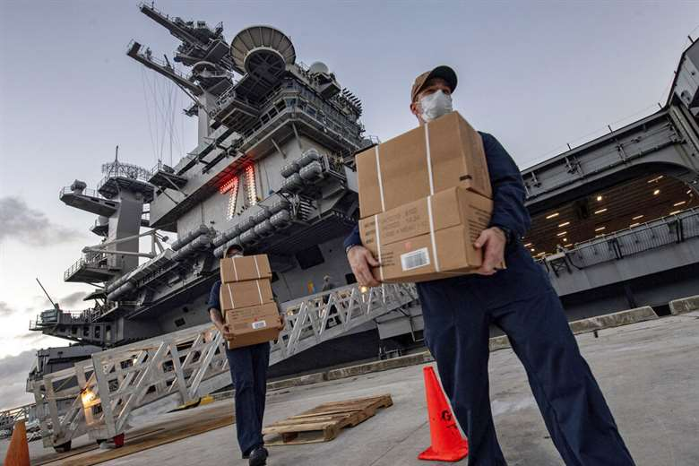 Marinero del portaviones USS Theodore Roosevelt murió de ...