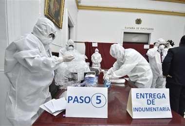 La logística para la sesión de Diputados I Foto: APG Noticias.