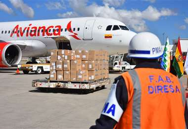 los insumos cuando llegaron a El Alto I Foto: APG Noticias.