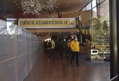 La entrada del exhotel Radisson en La Paz (Foto:APG noticias)