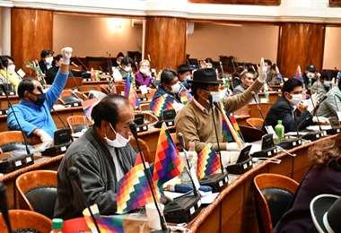 La sesión en la Cámara Baja I Foto: Twitter.