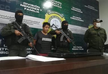 Mauricio Jara, cayó en un patrullaje cibernético y fue enviado a Palmasola. Foto. Guider Arancibia
