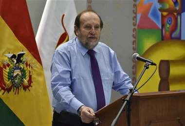 El ministro de Salud, Marcelo Navajas I Foto: APG Noticias.