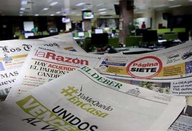 Prensa escrita del país. Foto: Ricardo Montero