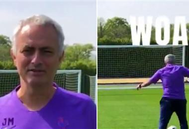 Tras anotar de penal, Mourinho quedó en el suelo