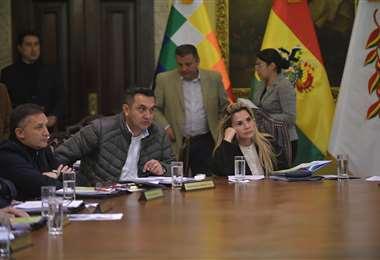 La reunión de Gabinete I Foto: ABI.